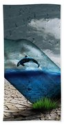 Desert Dolphin Bottle Nature Beach Towel