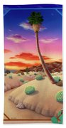 Desert Gazebo Beach Towel