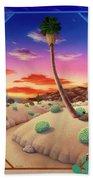 Desert Gazebo Beach Towel