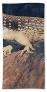 Desert Iguana Mural Beach Towel