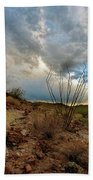Desert Landscape With Clouds Beach Towel