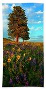 Desert Pines Meadow Beach Towel