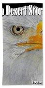 Desert Storm Eagle Beach Towel