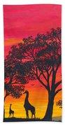 Desert Sunset 2 Beach Towel
