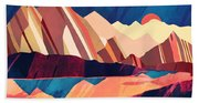 Desert Valley Beach Towel