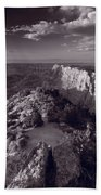 Desert View At Grand Canyon Arizona Bw Beach Towel