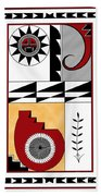Southwest Collection - Design Five In Red Beach Towel