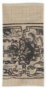 Design For A Binding For Charivaria, Carel Adolph Lion Cachet, 1874 - 1945 Beach Towel