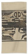 Design For A Charter On The Occasion Of Twelve-and-a-half-year Service, Carel Adolph Lion Cachet, 18 Beach Towel