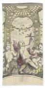 Design For A Gazebo Of Green Trellis, In Which Three Putti Play With Animals, Daniel Marot II, 170 Beach Towel