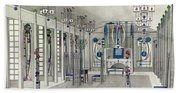 Design For A Music Room With Panels By Margaret Macdonald Mackintosh Beach Towel