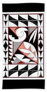 Southwest Collection - Design Four In Red Beach Towel