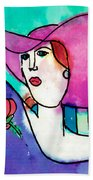 Design Lady Beach Towel