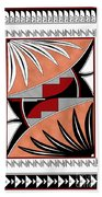 Southwest Collection - Design Three In Red Beach Towel