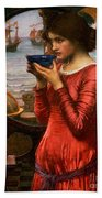 Destiny Beach Towel by John William Waterhouse