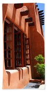 Detail Of A Pueblo Style Architecture In Santa Fe Beach Towel