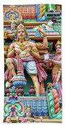 detail of Arulmigu Kapaleeswarar Temple, Chennai, Tamil Nadu Beach Towel
