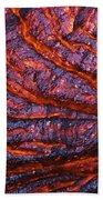 Detail Of Molten Lava Beach Towel