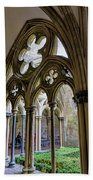 Detail Of Salisbury Cathedral Cloister  Beach Towel