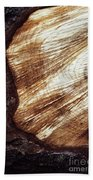 Detail Of Sawing Wood With Bark Beach Towel