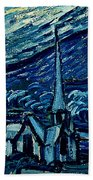 Detail Of The Starry Night Beach Towel
