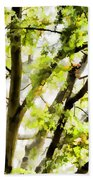Detailed Tree Branches 3 Beach Towel