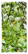 Detailed Tree Branches 4 Beach Towel