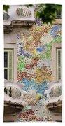 Details Of Casa Batllo In Barcelona 2, Spain Beach Towel
