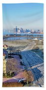 Detroit  A New Day A New Year Beach Towel