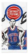 Detroit Bad Boys Pistons Beach Towel