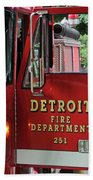 Detroit Fire Department Beach Towel