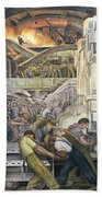 Detroit Industry   North Wall Beach Towel by Diego Rivera