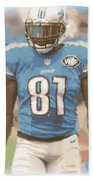Detroit Lions Calvin Johnson 1 Beach Towel