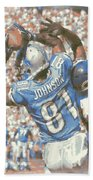 Detroit Lions Calvin Johnson 3 Beach Towel