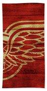 Detroit Redwings Barn Door Beach Towel