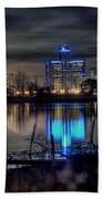 Detroit Reflections Beach Towel