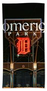 Detroit Tigers - Comerica Park Beach Towel