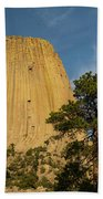 Devils Tower One Beach Towel