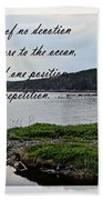 Devotion By Poet Robert Frost Beach Towel