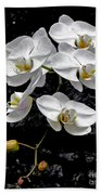 Dew-kissed Cascading Orchids Beach Towel