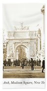 Dewey's Arch Monument, Madison Square, New York, 1900 Beach Towel
