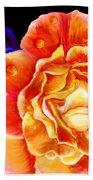Dewy Peach Rose Beach Towel
