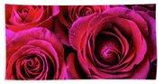 Dewy Rose Bouquet Beach Towel