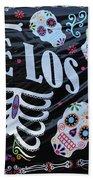 Dia De Los Muertos Banner  Beach Sheet