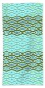 Diamond Bands Aqua Olive Beach Towel by Karen Dyson