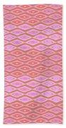 Diamond Bands Salmon Beach Towel by Karen Dyson