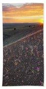 Diamond Craters Sunset Beach Towel