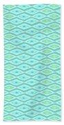 Diamond Eyes Pale Teal Beach Towel by Karen Dyson