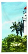 Diamond Head Lighthouse #10 Beach Towel