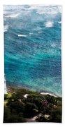 Diamond Head Lighthouse Beach Towel